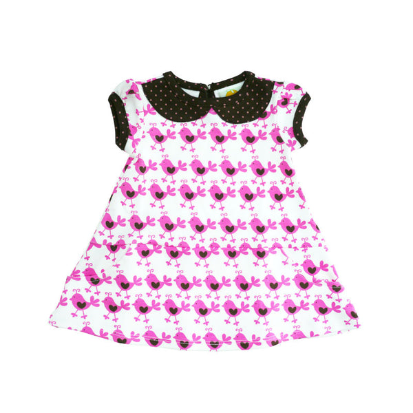 Pink Chicks Peter Pan Collar Dress
