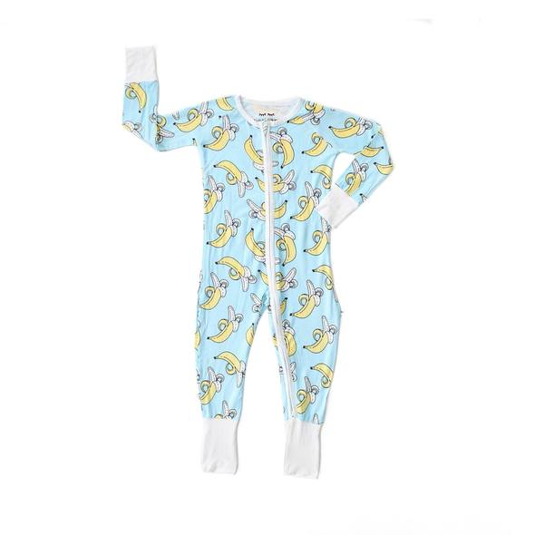 banana bamboo zip sleeper/romper
