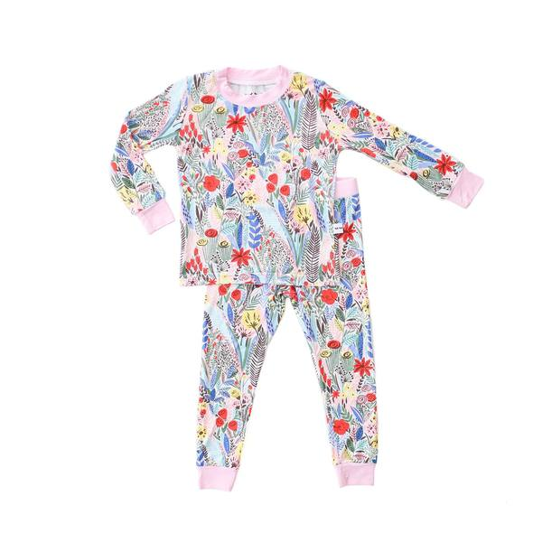 floral 2 pc bamboo pajama set