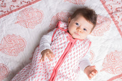 Winter Weight Organic Cotton Baby Sleeping Bag/Sleeping Sack - Pink
