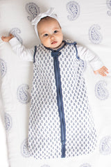 Winter Weight Organic Cotton Baby Sleeping Bag/Sleeping Sack - slate