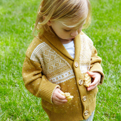 Professor Recycled Cotton Baby/Toddler Sweater - Mustard