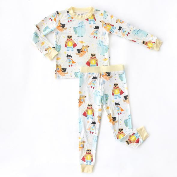 superhero 2 pc bamboo pajama set