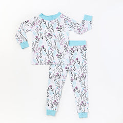 wildflower 2 pc bamboo pajama set