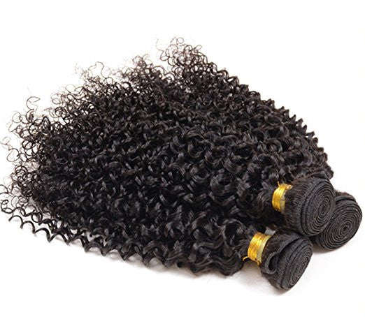 Indian - Kinky Curly 100% Unprocessed Human Hair Extensions