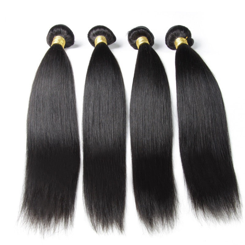 Peruvian - Straight 100% Unprocessed Human Hair Extensions
