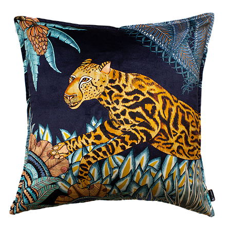 Cheetah Kings Jungle Tanzanite Pillow
