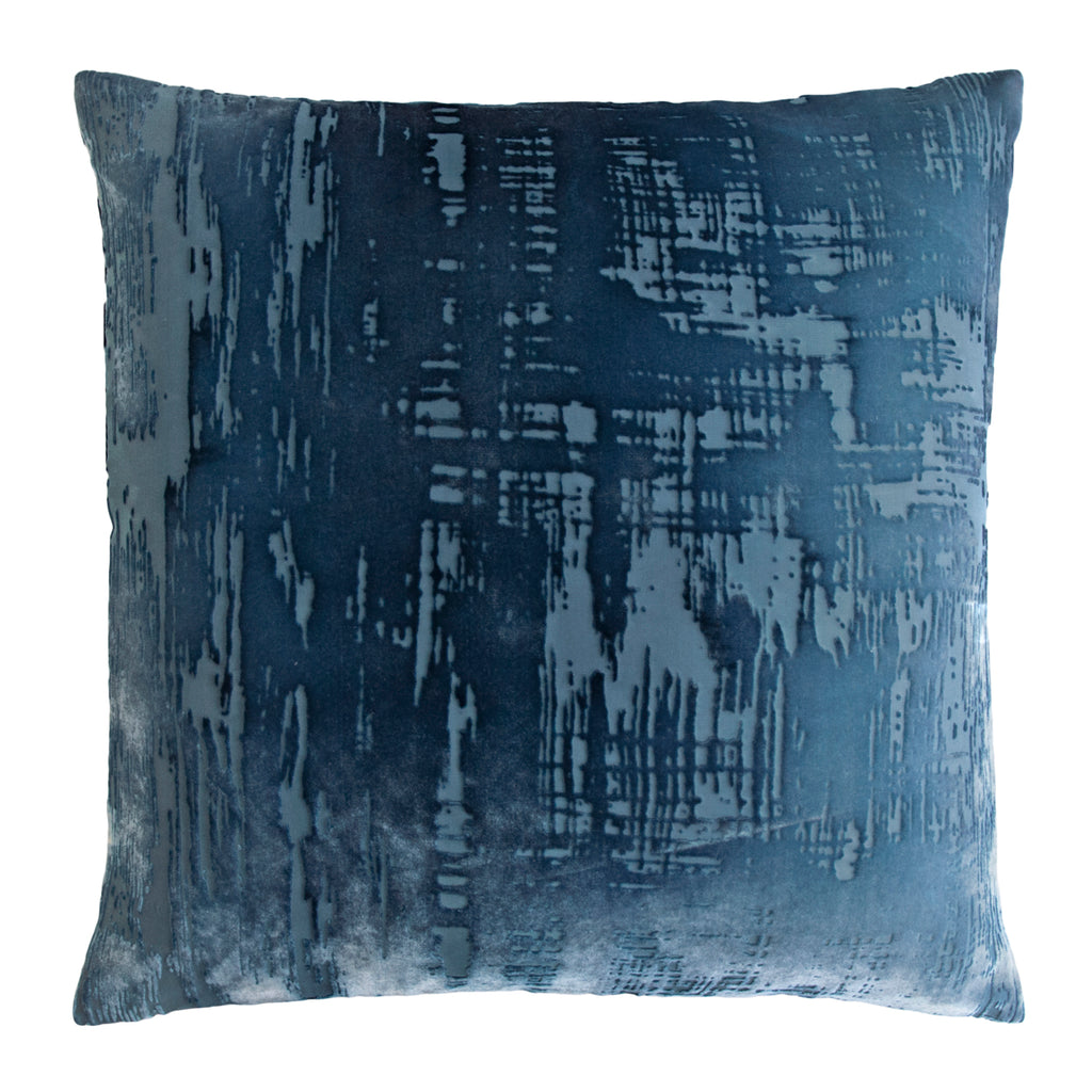 Denim Brushstroke Velvet