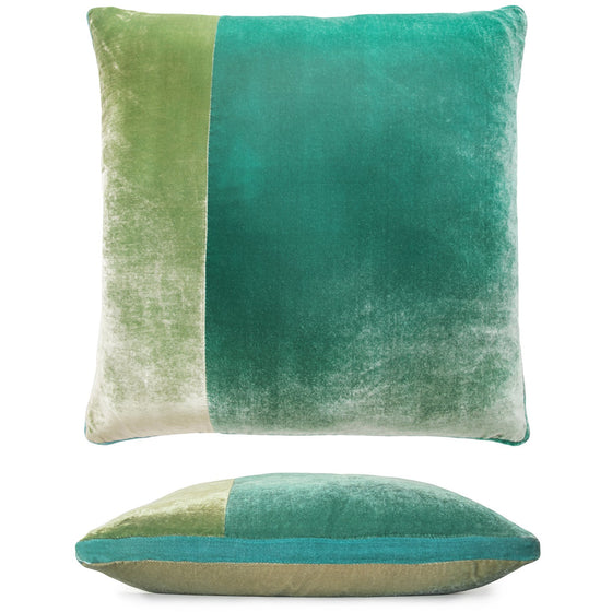 Color Block Celadon Velvet