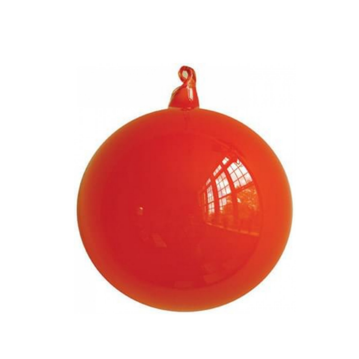 Medium Coral Bubblegum Glass Ornament