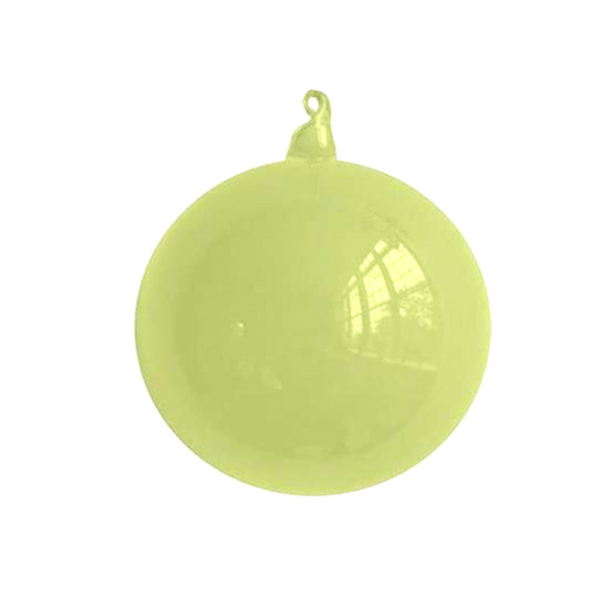 Medium Lime Bubblegum Glass Ornament