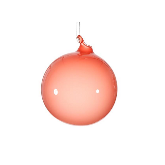 Small Pomegranate Bubblegum Glass Ornament