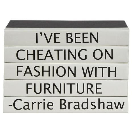 Carrie Bradshaw Quote Stack