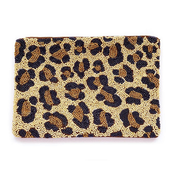 Cheetah Beaded Clutch