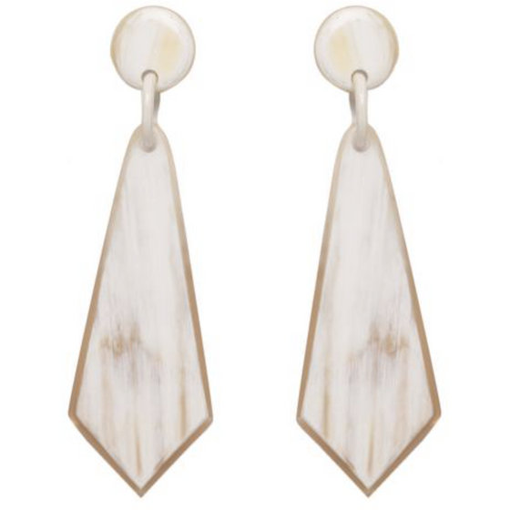 Crystal Drop Horn Earrings