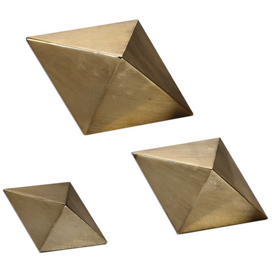 Rhombus Sculpture, set of 3