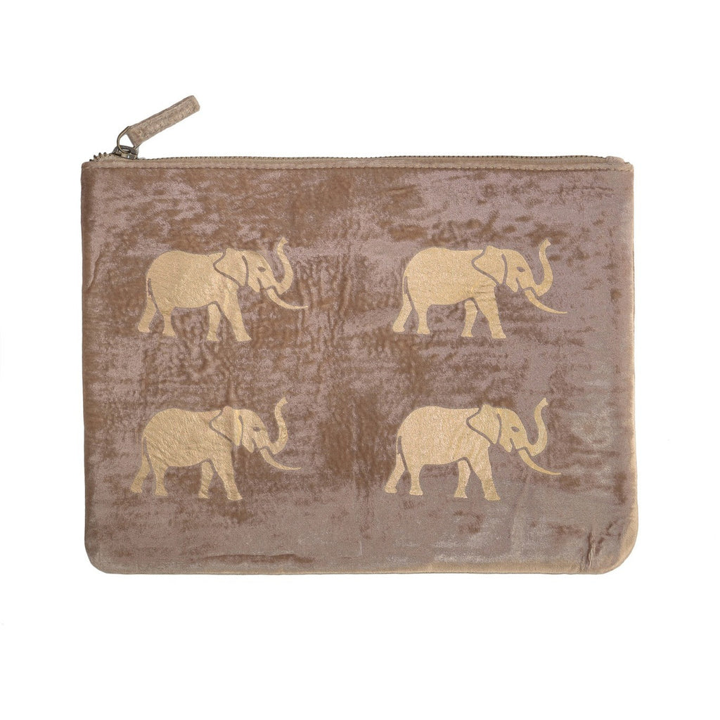 Taupe Elephant Pouch