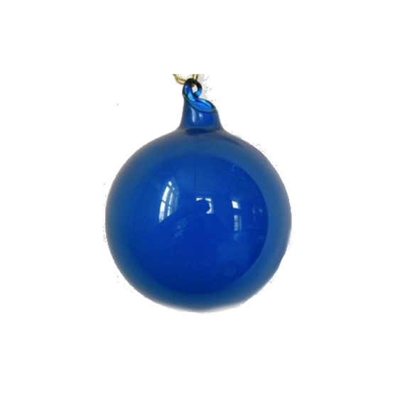 Small Blue Bubblegum Glass Ornament