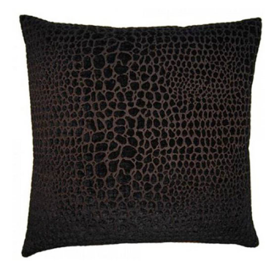 Noche Black Cheetah Pillow