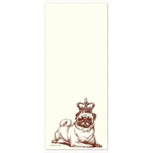 Long Notepad - Pug