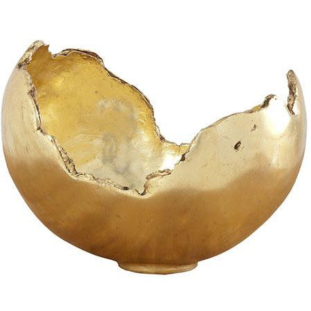 Burled Bowl in Gold Leaf