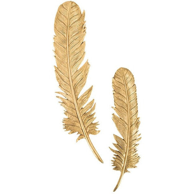 Gold Feather Wall Decor Citrine Home