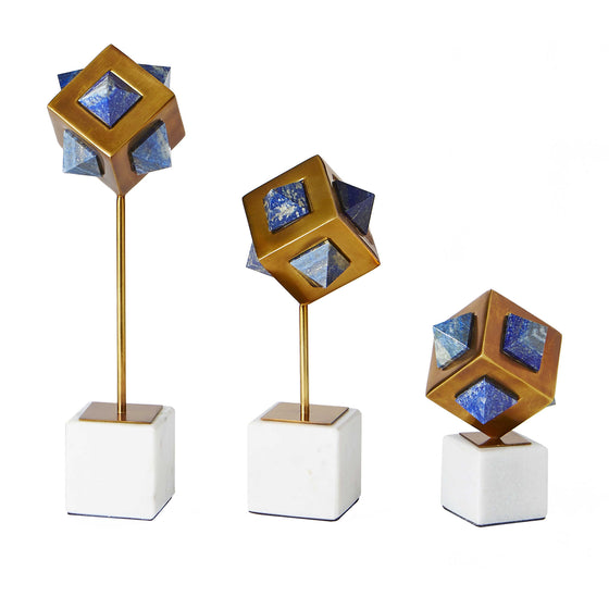 Lapis Cube Sculptures