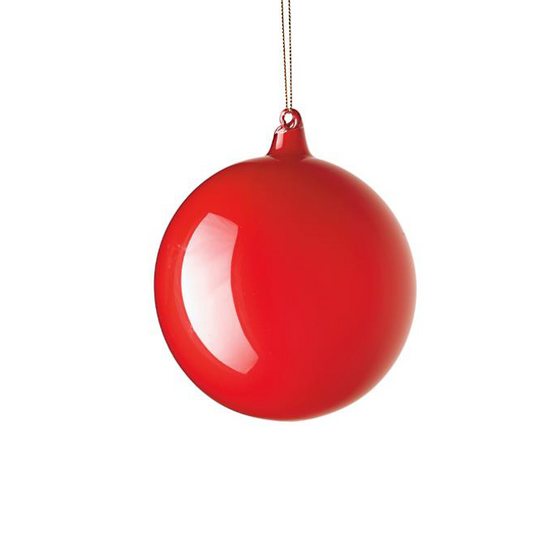 Small Red Bubblegum Glass Ornament