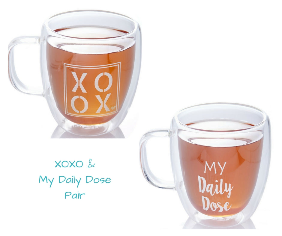 XOXO & MY DAILY DOSE MUG PAIR