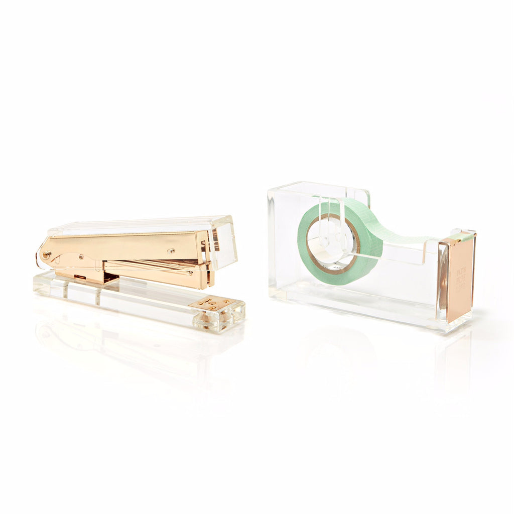 Stapler & Tape dispenser Set
