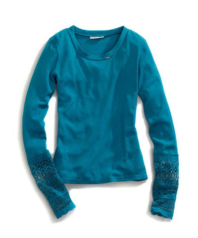Ladies Tin Haul Solid Thermal Knit Shirt 10-38-0080-0717