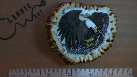 Hand Crafted Antler Flying Eagle Buckle