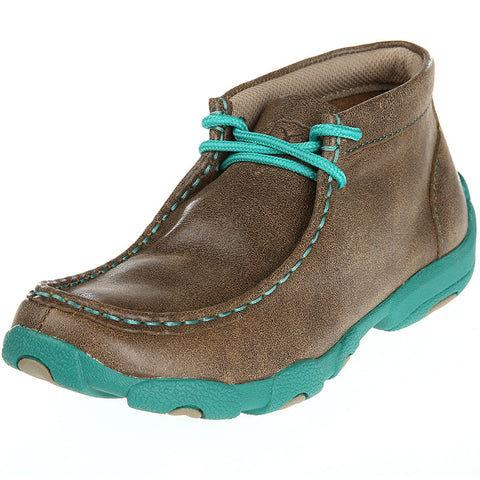 Kids Twisted X Turquoise Driving Mocs YDM0017