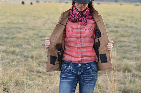 Ladies Wyoming Traders Calamity Concealed Carry Vest
