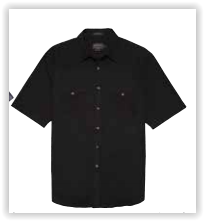 Men's Pendleton Short Sleeve Frontier Shirt Black DA069-68350