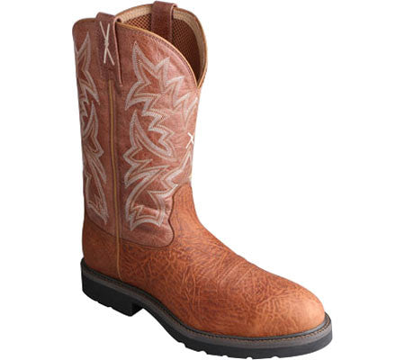 "Men's Twisted X Cowboy Work Brown 12"" Oiled Shoulder / Brown MCW0009"