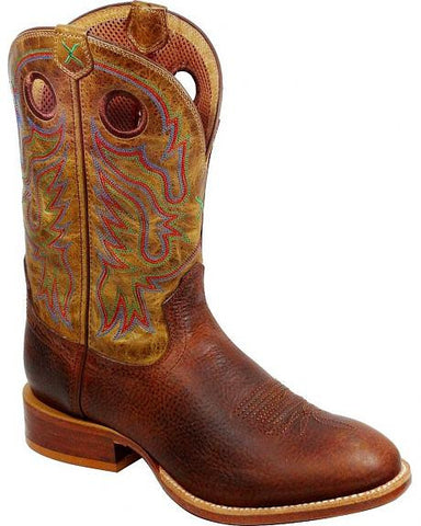 "Men's Twisted X Stockman Boots 11"" Copper / Hazel MSML002 NEW"