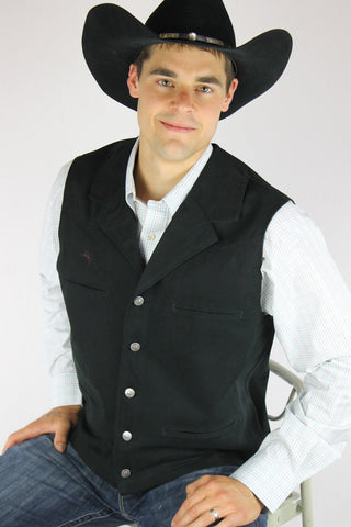 Men's Wyoming Traders Leather Buffalo Vest