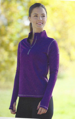 Ladies Cinch 1/2 zip Pullover Purple MSK7803001PUR