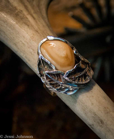 Classic West Designs Sterling Silver Elk Ivory Ring