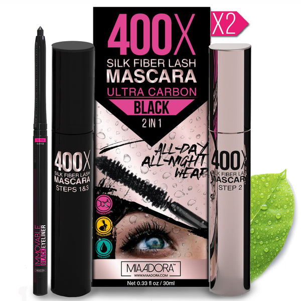 2 x 400X Mia Adora Mascara + Immovable Eyeliner Pencil
