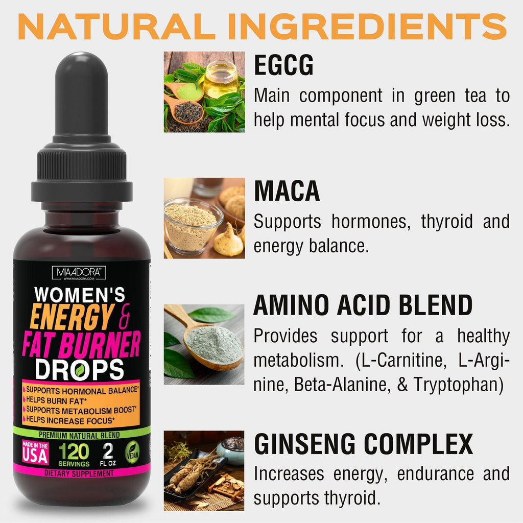 Fat Burner & Energy Drops - The Perfect Combo