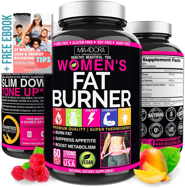 Natural Fat Burner & Energy Supplement for Women with Apple Cider Vinegar