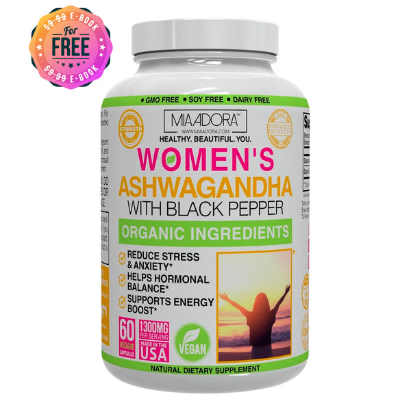 Ashwagandha Premium for Natural Stress & Anxiety Control with Organic Black Pepper