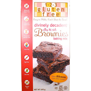 1-2-3 Gluten Free Divinely Decadent Brownies Baking Mix (695g)
