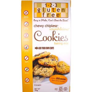 1-2-3 Gluten Free Chewy Chipless Scrumdelicious Cookies Mix (740g)