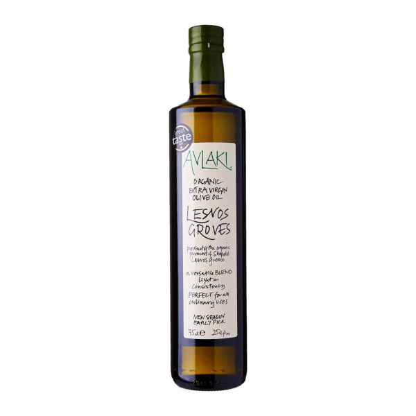Lesvos Groves Green Extra Virgin Organic Olive Oil (750ml) Front