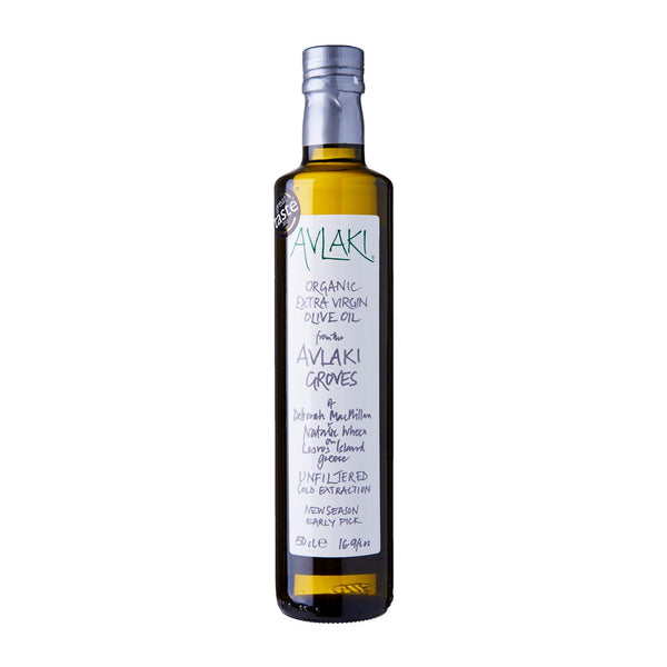 Avlaki Groves Extra Virgin Organic Olive Oil (500ml) Front
