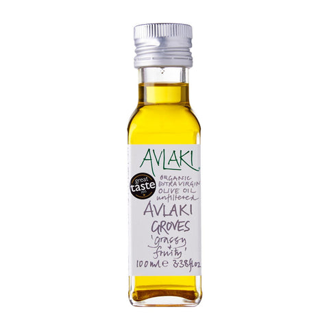 Avlaki Groves Extra Virgin Organic Olive Oil (100ml) Front