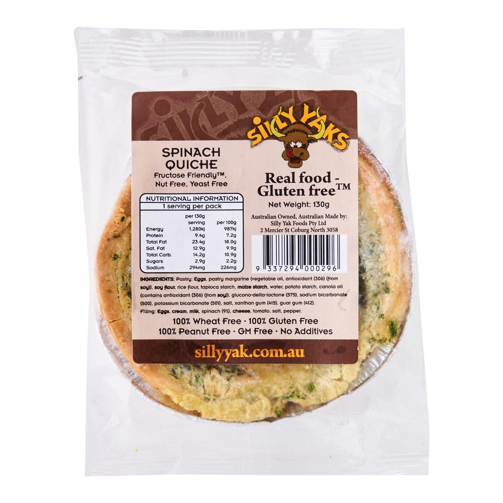 Spinach Quiche (130g)
